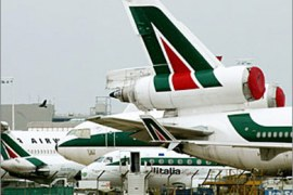 afp – Alitalia planes are seen at Rome's Fiumicino airport