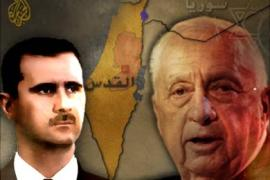 a design combining ariel sharon and bashar al asad