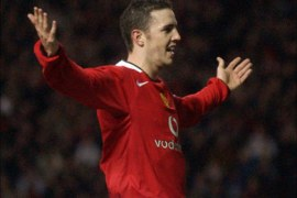afp – Manchester United's John O'Shea celebrates after scoring to make it 1-0 against Middlesbrough during their 4th round FA Cup football clash at Old