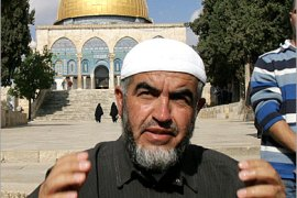 AFP  – Sheikh Raed Salah, the firebrand Islamic Movement leader, 'yetawada' or washes prior to entering the Dome of the Rock in the al-Aqsa Mosque Compound to pray in