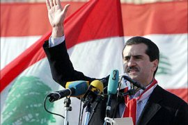 f_A picture dated 14 March 2005 shows Gebran Tueini speaking during the 14th of March