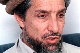 EPA  –  The Afghani opposition rebel leader Ahmad Shah Masood speaks with journalists in an unidentified village in Panjshir valley  Monday 13 August  2001. The troops of Ahmad Shah Masood are continuing to fight with Afghanistans Taliban Islamic militia which rule most of the country and have be