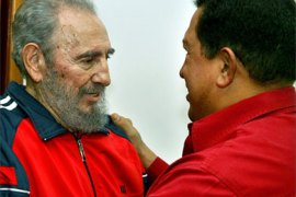 Picture release by Cuban newspaper Juventud Rebelde, 30 january 2007, shows Cuban President Fidel Castro (L) and his Venezuelan counterpart Hugo Chavez
