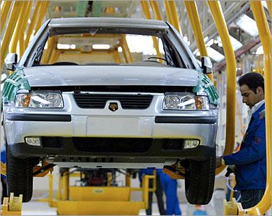 إيران خودرو تنشئ ثلاثة مصانع للسيارات بالخارج