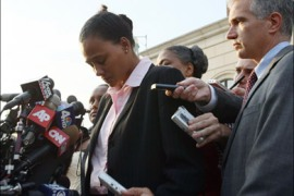 afp – With tears in her eyes track star Marion Jones hangs her head as she talks to reporters after appearing in US District Court 05 October 2007 in White Plains