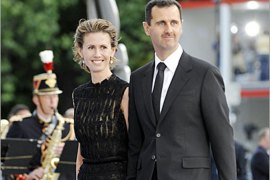 AFP /  Syrian President Bashar al-Assad and his wife Asma al-Assad arrive for a diner at the Petit Palais, after attending Paris' Union for the Mediterranean founding summit, on July