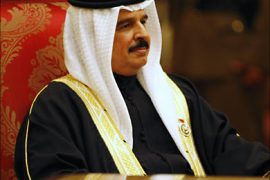 r_Bahrain's King Hamad bin Isa al-Khalifa attends the opening of the Gulf Cooperation Council (GCC) summit in Muscat December 29, 2008