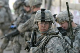 afp/ US soldiers are seen during a patrol in the fashionable Karrada district of Baghdad on February 25 2009. All US combat troops will leave Iraq by August next year and a full withdrawal will be completed by the end of 2011 under a strategy to be laid out by President Barack Obama