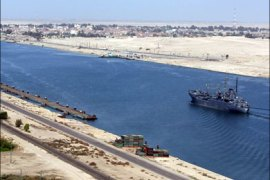 afp : (FILES) — File picture dated November 24, 2008 shows an Egyptian patrol ship navigating in the Suez Canal between Port Said and Ismailia, about 100 kms northeast of Cairo.