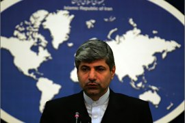 Iranian newly appointed foreign ministry spokesman, Ramin Mehmanparast, holds a press conference in Tehran on November 24, 2009. Two top Iranian officials, including