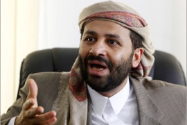 REUTERS / Rising Yemeni opposition politician Sheikh Hamid al-Ahmar speaks during an interview with Reuters in Sanaa June 12, 2010. Ahmar, seen as a potential presidential successor,