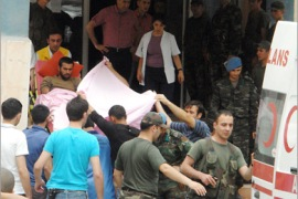 AFP –  Wounded Turkish soldiers are taken to a hospital in Semdinli in Hakkari province, southeastern Turkey, on June 19, 2010. Turkish troops and Kurdish militants clashed in southeast Turkey on Saturday in an escalation of violence which killed 10 soldiers and 12 rebels.