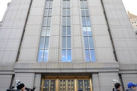 Manhattan Federal Court just before the pre-trial hearing for Russian Viktor Bout opens January 21, 2011 in New York