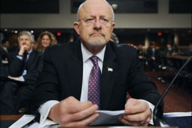 epa02625809 US Director of National Intelligence James Clapper Jr. appears before the Senate Armed Services Committee hearing on the current and future worldwide