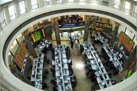 epa02648991 A general view shows the trading room of the Egyptian stock market in Cairo, Egypt,