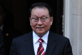 Chinese Communist Party official Li Changchun, a senior member of China's Politburo Standing Committee, leaves number 10 Downing Street in central London on April 17, 2012 after a meeting with British Prime Minister David Cameron. Cameron met a top Chinese Communist Party official on April 17 and urged a full and proper investigation into the death of an English businessman in China last year.  AFP