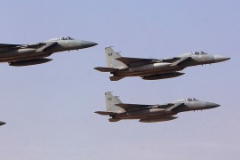 Royal Saudi Air Force jets fly in formation over a graduation ceremony at King Faisal Air Academy in Riyadh January 1, 2013. REUTERS/Fahad Shadeed (SAUDI ARABIA – Tags: MILITARY)