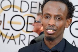 epa04017677 Somalia actor Barkhad Abdi arrives for the 71st Annual Golden Globe Awards at the Beverly Hilton, in Beverly Hills, California, USA, 12 January 2014. EPA/PAUL BUCK