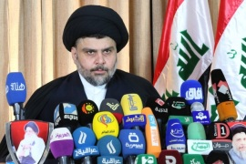 Shi'ite Muslim cleric Moqtada al-Sadr speaks in Najaf, 160 km (99 miles) south of Baghdad, February 18, 2014. Sadr stuck to his decision to leave political life and dissolve his movement, saying that politics had become a way to inflict injustice. Sadr, who led revolts against U.S. forces in Iraq before their pullout and became a major influence in the government, initially announced his retirement on Saturday via a handwritten statement on his website. REUTERS/Handout/Office of Moqtada al-Sadr (IRAQ – Tags: POLITICS RELIGION) FOR EDITORIAL USE ONLY. NOT FOR SALE FOR MARKETING OR ADVERTISING CAMPAIGNS. THIS IMAGE HAS BEEN SUPPLIED BY A THIRD PARTY. IT IS DISTRIBUTED, EXACTLY AS RECEIVED BY REUTERS, AS A SERVICE TO CLIENTS