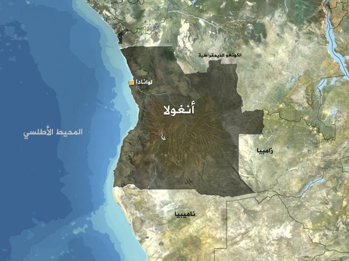 خريطة أنغولا