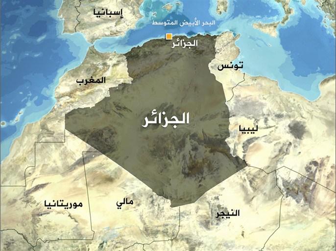 صورة لخريطة الجزائر