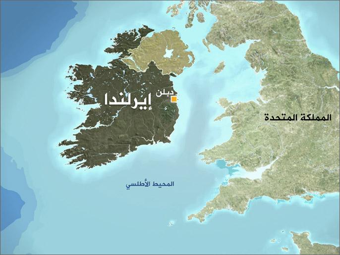 خريطة إيرلندا