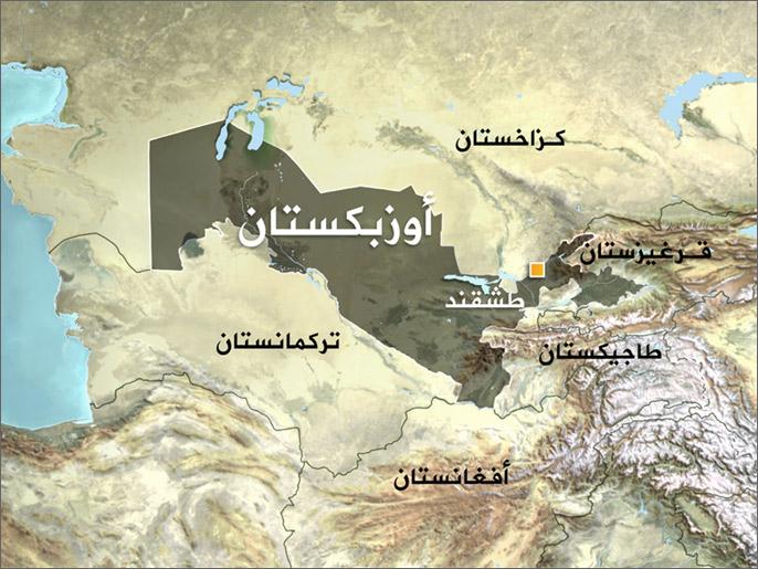 خريطة أوزبكستان