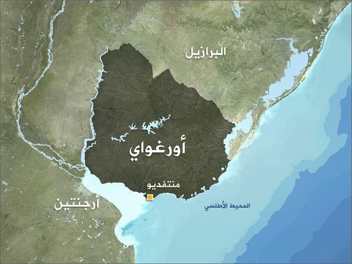خريطة أورغواي