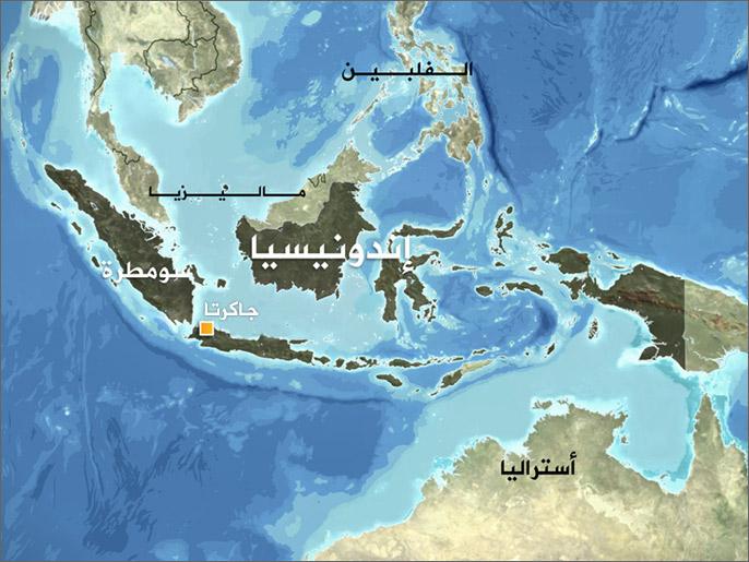 خريطة إندونيسيا