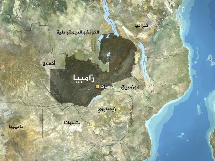 خريطة زامبيا