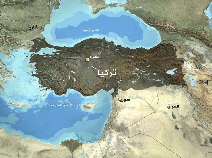 صورة لخريطة تركيا