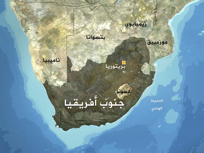 خريطة جنوب أفريقيا