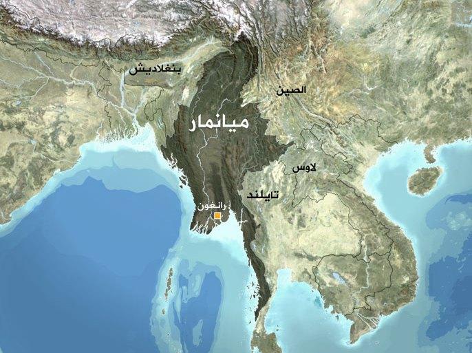 خريطة ميانمار