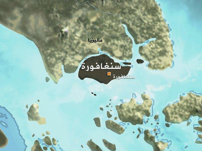 خريطة سنغافورة