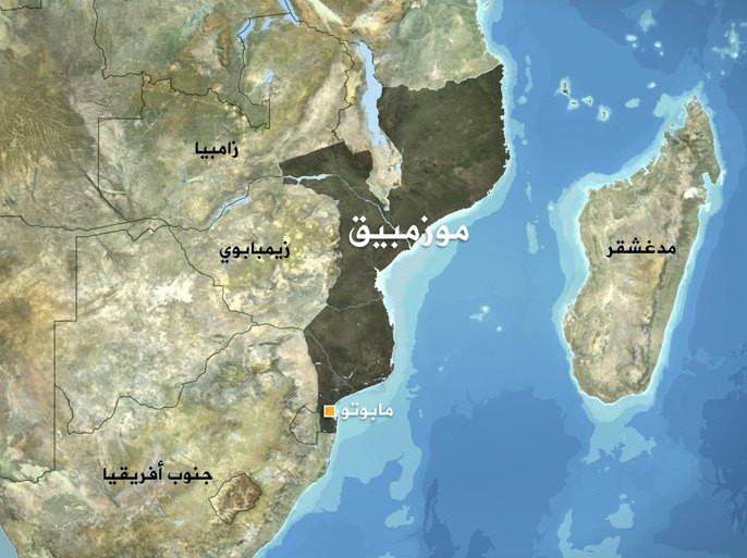 خريطة موزمبيق