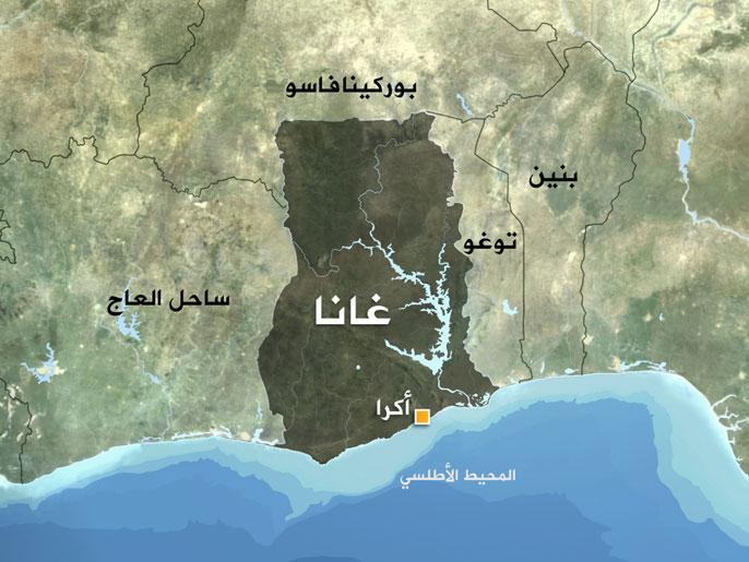 خريطة غانا
