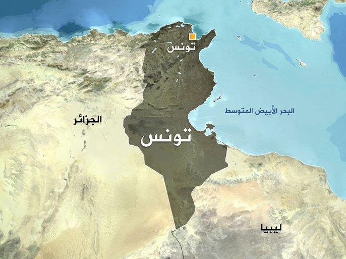 صورة لخريطة دولة تونس