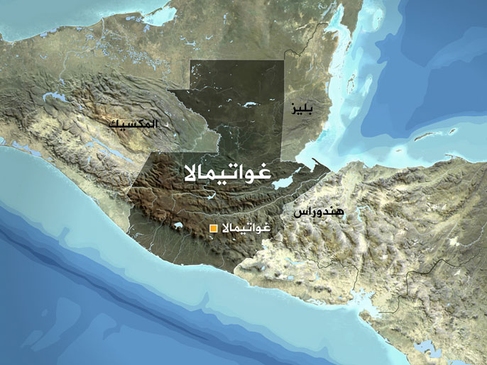 خريطة غواتيمالا
