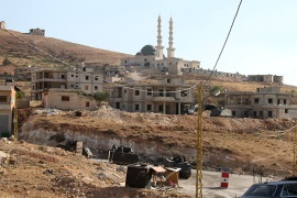 الموسوعة – Lebanese town of Arsal, near the Syrian border, Bekaa Valley, Lebanon, 09 August 2014,