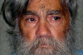 Convicted mass murderer Charles Manson is shown in this handout picture from the California Department of Corrections and Rehabilitation dated June 16, 2011. Notorious mass murderer Charles Manson, 80, has been granted a marriage license, and would be allowed to wed in prison, a spokeswoman for the California Department of Corrections and Rehabilitation said Monday. REUTERS/CDCR/Handout   (UNITED STATES – Tags: CRIME LAW SOCIETY) FOR EDITORIAL USE ONLY. NOT FOR SALE FOR MARKETING OR ADVERTISING CAMPAIGNS