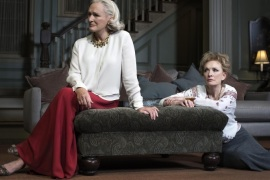 "This image released by Lincoln Center Theater shows Glenn Close and Lindsay Duncan during a performance of ""A Delicate Balance,"" in New York. (AP Photo/Lincoln Center Theater, Brigitte Lacombe)"