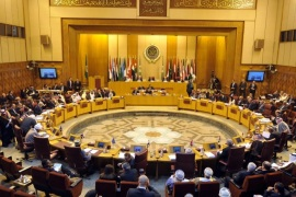 A general view for the Arab League Foreign Ministers emergency meeting at the League's headquarters in Cairo, Egypt, 29 November 2014. The meeting is held to discuss the situation in east Jerusalem.