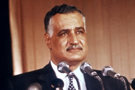 Picture dated from the 1950s in Cairo of Egyptian president Gamal Abdel Nasser (1918-1970). Army officer, Nasser became dissatisfied with the corruption of the Farouk regime and was involved in the military coup of 1952. He assumed the premiership in 1954 and then presidential powers, deposing his fellow officer, General Mohammed Neguib. Officially elected president in 1956, he nationalized the Suez Canal.