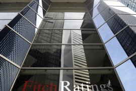 An exterior view of the offices of Fitch Ratings in New York, New York, USA, 16 October 2013. Democratic and Republican Senate leaders on 16 October announced a deal to raise the US debt limit ahead of the 17 October deadline and reopen the federal government, which has been closed since 01 October. The uncertainty over the way forward earlier on 16 October had prompted Wall Street ratings agency 'Fitch Ratings' to warn that the country's AAA credit was at risk.