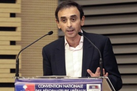 French journalist Eric Zemmour gives a speech during a party's meeting untitled 'Are social norms going to kill French people's freedom. We need some fresh air!', on March 2, 2011 at the French National Assembly in Paris. A French court condemned Zemmour, to a 1.000 euros deferred fine, for provocation to racial discrimination because he argued in a TV debate, that blacks ans Arabs were the targets of illegal racial profiling by the French police because the majority of traffickers are black and Arab'.