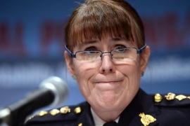 RCMP Chief Superintendent Jennifer Strachan announces an arrest and charges against three men related to an Islamic State recruiting cell, Tuesday, Feb. 3, 2015, in Ottawa, Ontario. (AP Photo/The Canadian Press, Sean Kilpatrick)