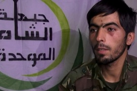 DAMASCUS, SYRIA – FEBRUARY 27: Iranian soldier, Imad Jaaferi, captured by Free Syrian Army during the battle in Daraa, Syria, speaks on February 27, 2015. He said that came from Iran with a group composed of 3,000 people for the sake of jihad.