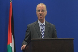 RAMALLAH, WEST BANK – NOVEMBER 8: Palestinian Prime Minister Rami Hamdallah speaks during a press conference after a meeting with EU High Representative for Foreign Affairs and Security Policy and Vice President of the European Commission Federica Mogherini (not seen) in Ramallah, West Bank on November 8, 2014.