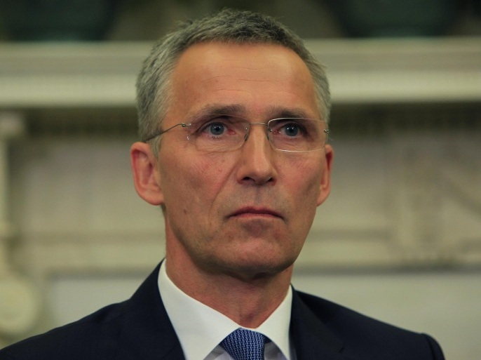 WASHINGTON, DC – MAY 22:  NATO Secretary-General Jens Stoltenberg speaks while meeting with  U.S. President Barack Obama in the Oval Office of the White House on May 26,2015 in Washington, DC.  Obama said the United States is working closely with NATO in the fight against ISIL .