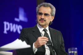 Prince Alwaleed Bin Talal, Saudi billionaire and founder of Kingdom Holding Co., speaks at the Bloomberg Year Ahead: 2014 conference in Chicago, Illinois, U.S., on Wednesday, Nov. 20, 2013. Alwaleed said President Barack Obama lacks a 'comprehensive and coherent foreign policy' toward the Arab world.